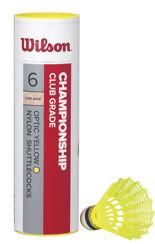Resim Wilson 6'lı Sarı Badminton Topu Championship 77 ( WRT6044YE77 )